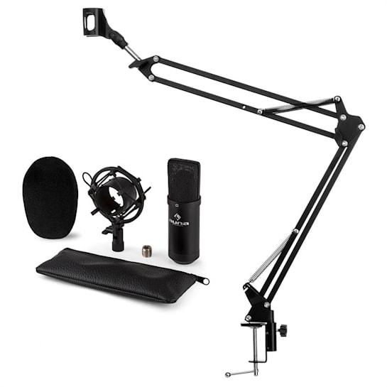 CM001B Set per Microfono V3 Condensatore Braccio per Microfono Nero