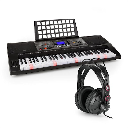 Etude 450 USB Learning Keyboard with Headphones 61 Keys USB MIDI Player LCD
