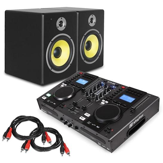 "Elektronik Star DJ Set ""Starter Control"" DJ-Controller Set Casse 2x Cavi RCA"