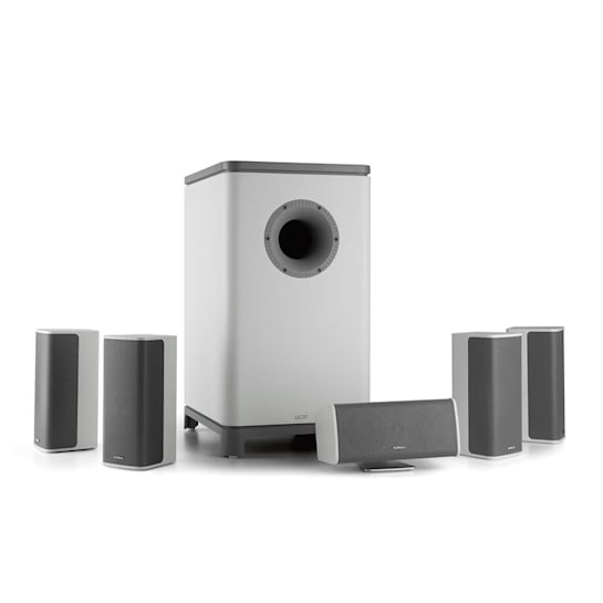 Ambience 5.1-Surround-Sound-System bianco incl. Cavo Altoparlante 30m