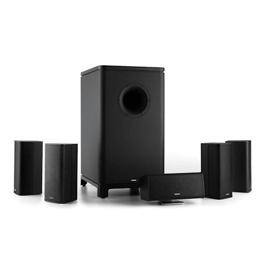 Ambience 5.1-Surround-Sound-System nero incl. Cavo Altoparlante 30m