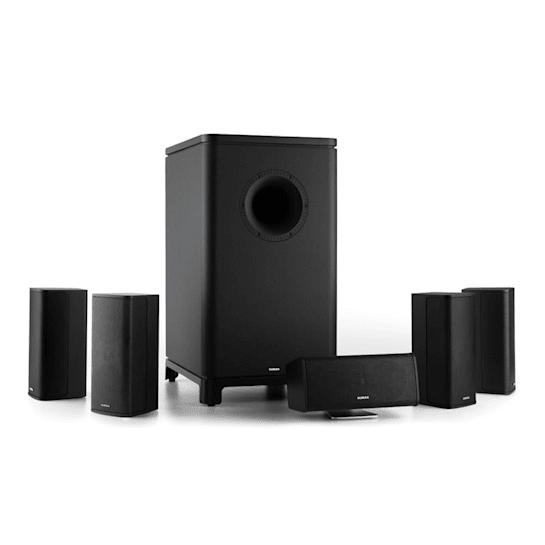 Ambience 5.1-Surround-Sound-System schwarz inkl. 30m Lautsprecherkabel