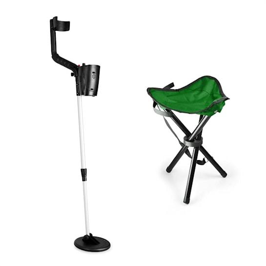 Basic Green, set za iskanje zakladov, detektor kovin, stol za kampiranje, 16.5 cm sonda