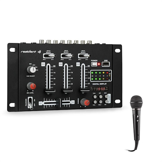 DJ-21 BT Set table de mixage DJ Bluetooth USB + micro - noir