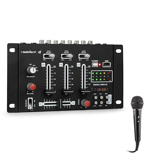 DJ-21 BT DJ-Mixer Mischpult Set USB Mikrofon schwarz