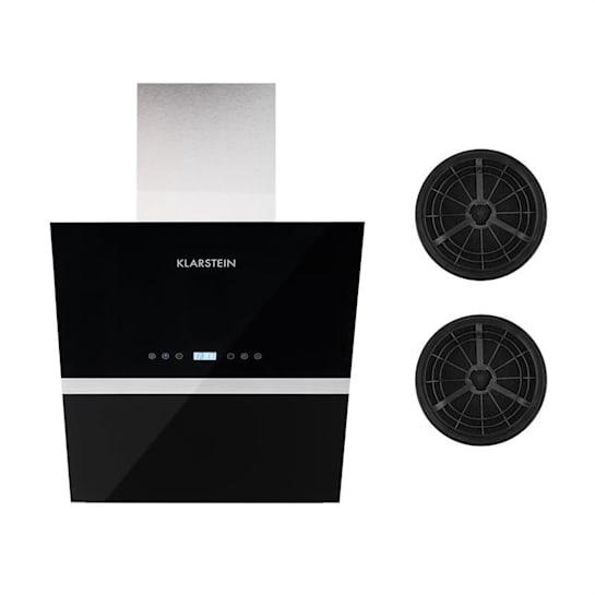 Aurea VII, odsavač par, set filtrů s aktivním uhlím, 60 cm, černá barva