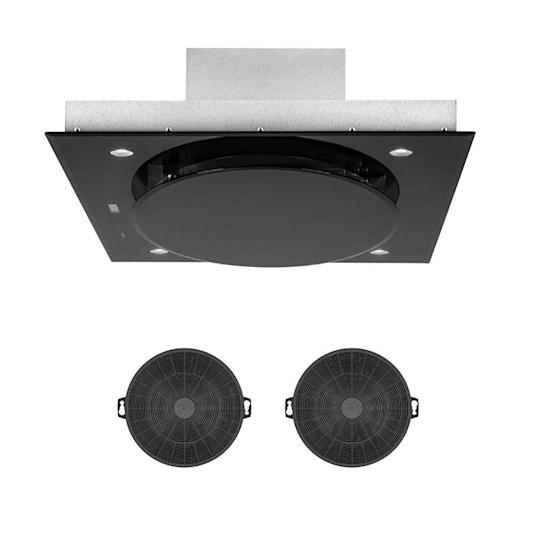 Secret Service Umluftset 110cm 800m³/h Aktivkohlefilter schwarz