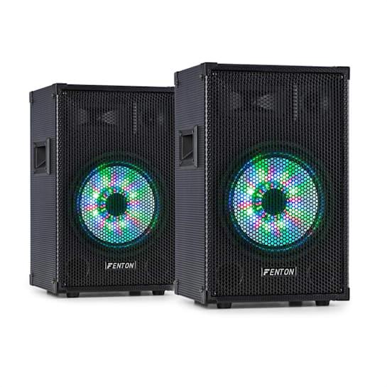 """TL10LED, pár 3-cestných pasivních reproduktorů, RGB-LED, 10"""" woofer, 500 W Tweeter"""