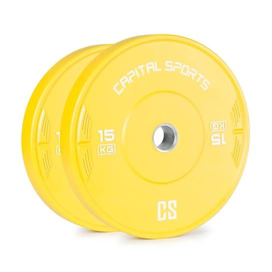 Nipton 15, kotúč, závažie, 2 x 15kg, tvrdená guma, žltý