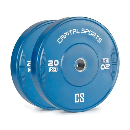 Nipton 20, kotúč, závažie, 2 x 20 kg, tvrdená guma, modrý