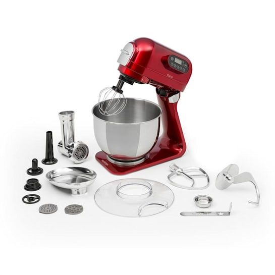Curve Plus Food Processor Set | 5l | 4-in-1 Meat Grinder | Red
