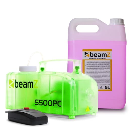 S500PC Nebelmaschine inkl. 5-Liter-Nebelfluid RGB LEDs 500 W transparent