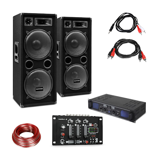 SPL700EQ Amplifier Set with 2 Speakers Mixing Console