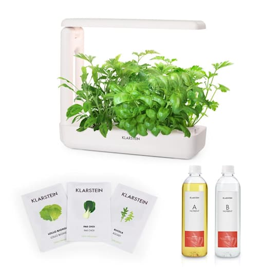GrowIt Cuisine Starter Kit Salad 12 Plants LED Salad Seeds Nutrient Solution