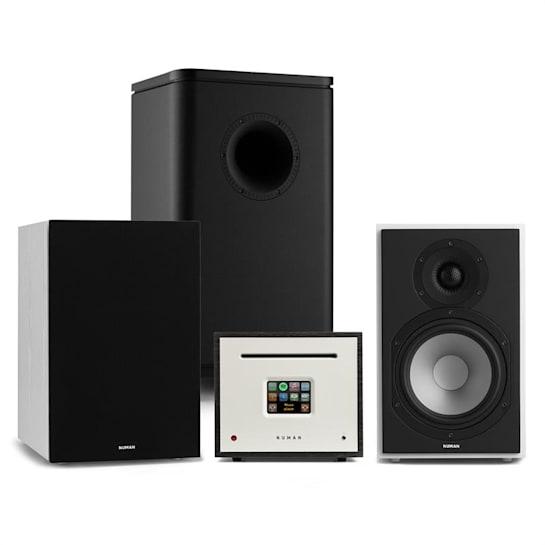 Unison Reference 802 Edition Stereoanlage Verstärker Boxen weiß/schwarz