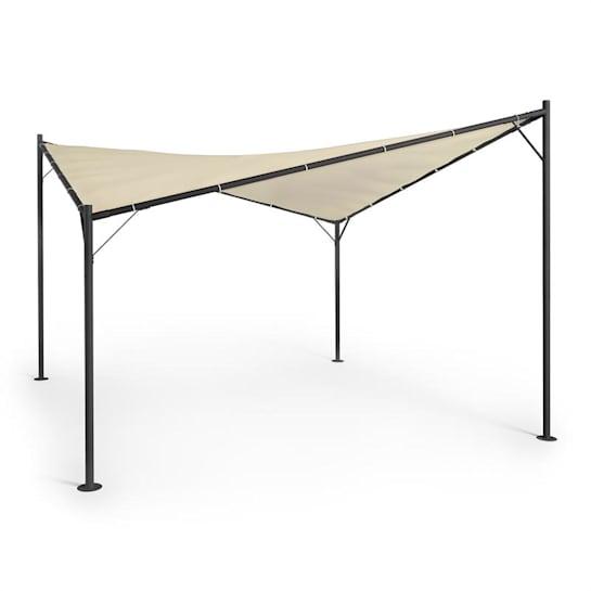 Sombra Pergola Komplettset 4x4m Polyester-Dach beige