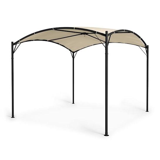 Castello Pavillon 3.5x3.5m 250G Polyester Steel Black / Beige