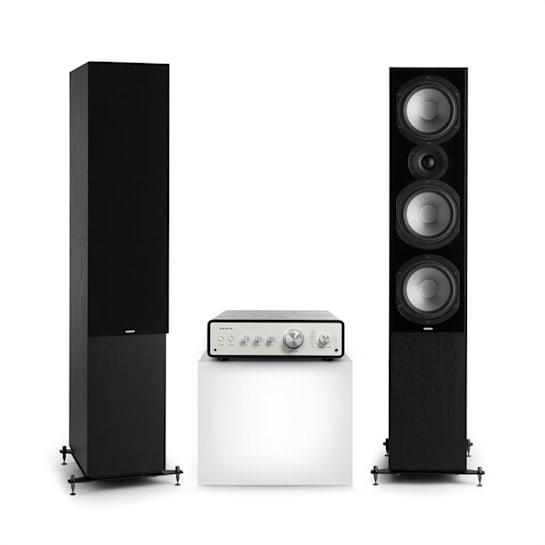 Drive 801 Stereo Set Stereo Amplifier + Tower Speakers Black / Black