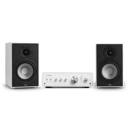 Drive 802 set stereo amplificatore stereo + diffusori da scaffale bianco / bianco