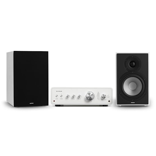 Drive 802 Stereo Set Stereo Amplifier + Shelf Speakers White / Black