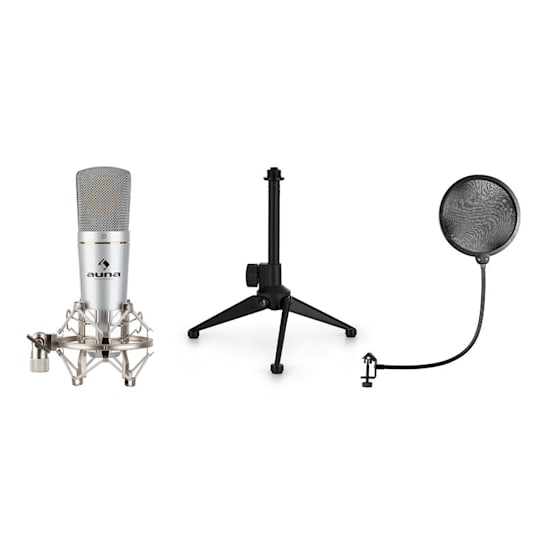 MIC-920 set microfono USB V1 microfono a condensatore treppiedi protezione anti-pop cardioide