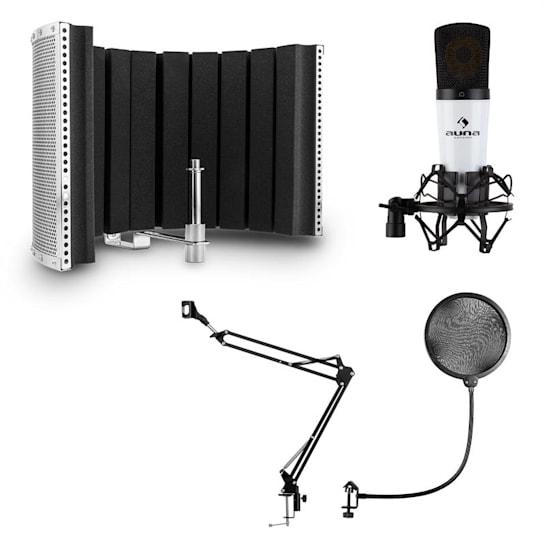 MIC-920 USB Microphone Set V5 Microphone Swivel Arm Pop Protection Screen
