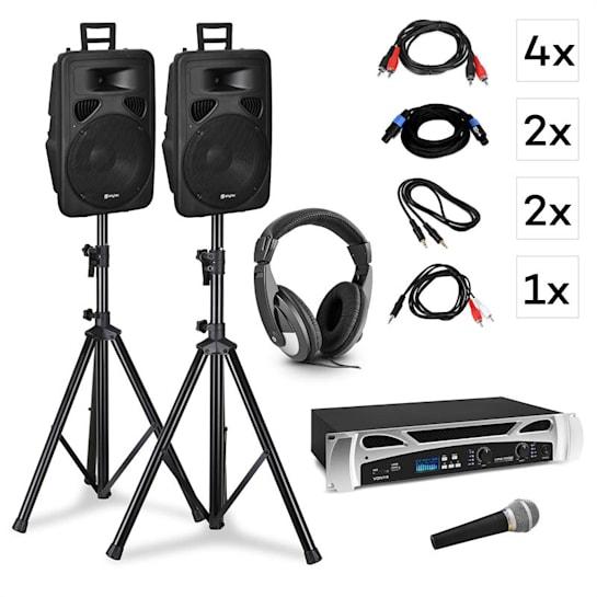 Singapore, DJ systém, set, PA zesilovač 2x500 W, 2x2 pásmový reproduktor