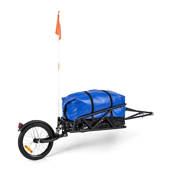 """Follower Fahrradanhänger Set 16"""" Rad 35 kg Ladegewicht 120 Liter Transporttasche"""
