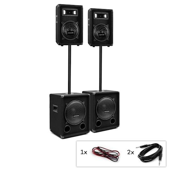 PW-Series MKII, kit PA passivo, 2 x subwoofer + 2 x diffusori a 2 vie