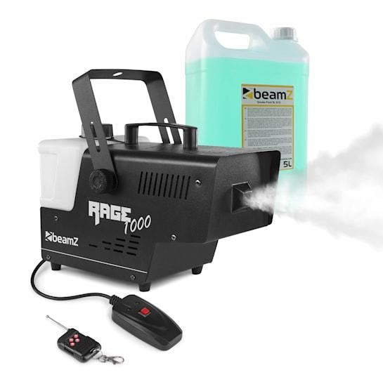 Rage 1000 Nebelmaschine inkl. Nebelfluid 1000W 125 m³/min.