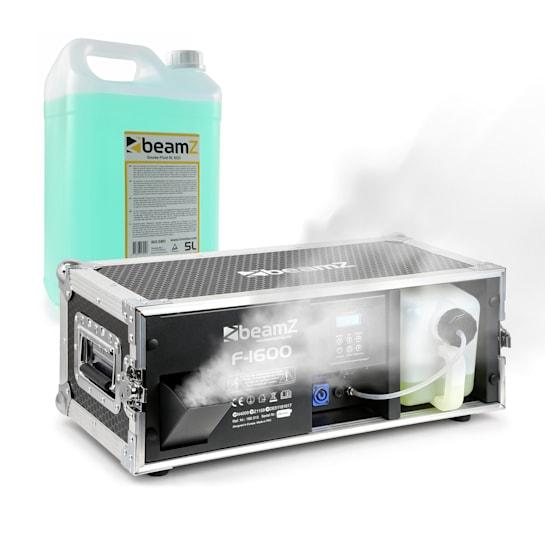 F1600 Faze Machine inkl. Nebelfluid 1600W 350m³ DMX Master/Slave