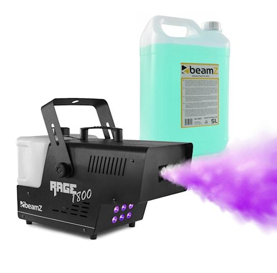 Rage 1800 LED Nebelmaschine inkl. Nebelfluid 1800W 530m³/min