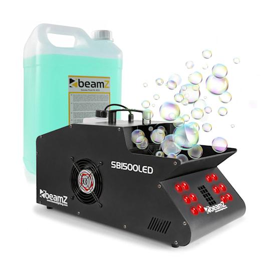 SB1500, LED, stroj za maglu i mjehuriće, uključujući tekućinu za maglu, 1500W, 1,35L