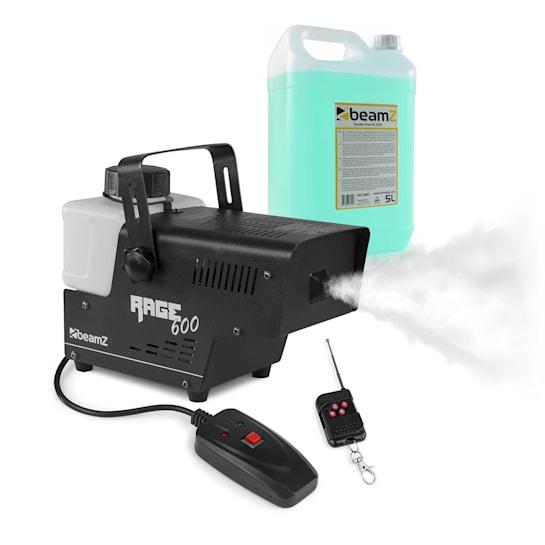 Rage 600, mașină de făcut fum, inclusiv lichid de fum, 600 W, 65 m³ / min., 0,5 l