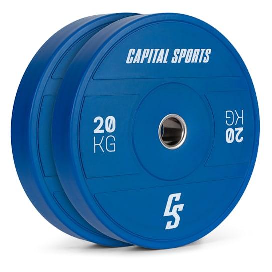 Nipton 2021 Gewichtsplatte Bumper Plate | 2 x 20 kg | Ø 54 mm | Hartgummi