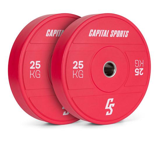 Nipton 2021 Gewichtsplatte Bumper Plate | 2 x 25 kg | Ø 54 mm | Hartgummi