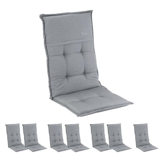 Coburg Polsterauflage Sesselauflage Hochlehner Gartenstuhl Polyester 53x117x9cm