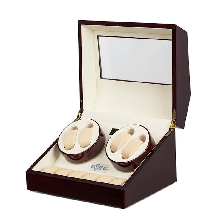 Horlogeopwinder showcase vitrine 10 horloges - handgemaakt Bruin/ 10 horloges