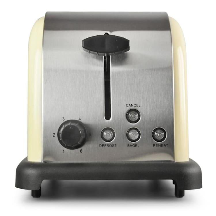 BT-318-C Toaster 2-Scheiben Edelstahl 1000W creme Creme