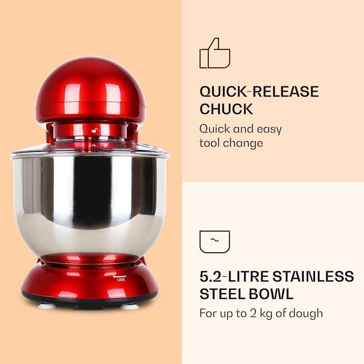 Bella Robot de cocina 2000 W/2,7 PS 5 L Acero inoxidable Sin BPA Rojo