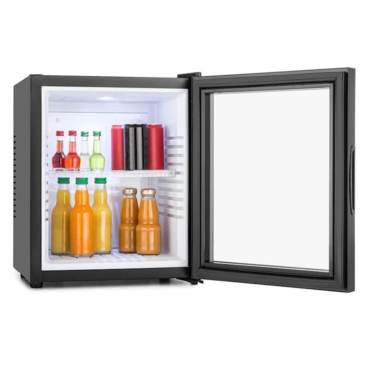 MKS-13 Minibar Mini Frigorífico 3 níveis de temperatura Volume: 30L 23 dB Porta de vidro preta