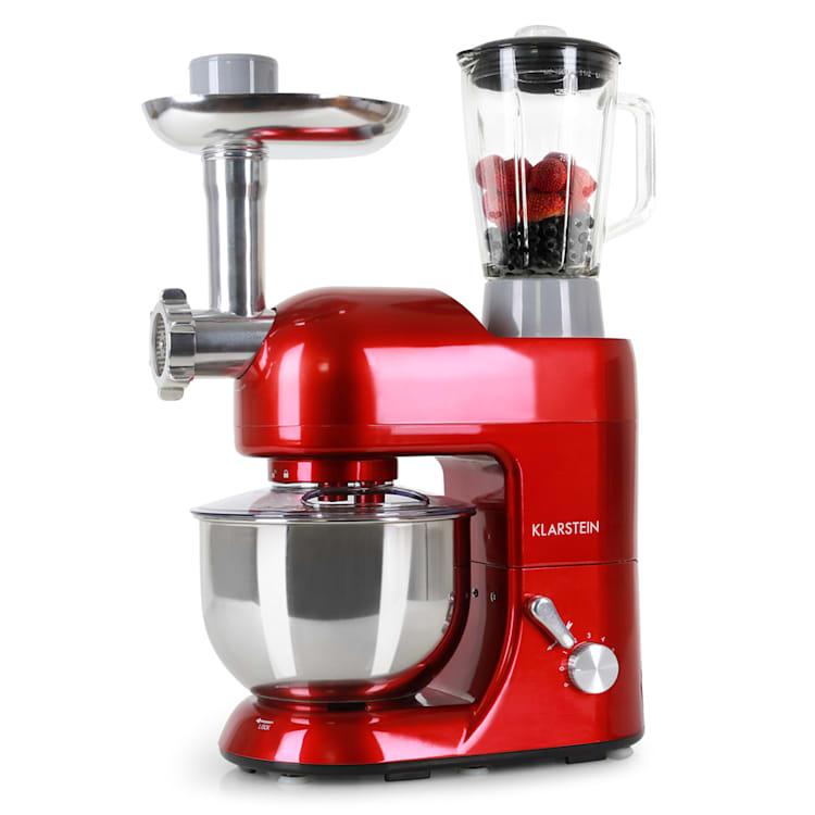Robot da cucina 3 in 1 Lucia 2000 W / 2,7 PS 5 litri in acciaio inossidabile senza BPA Rosso