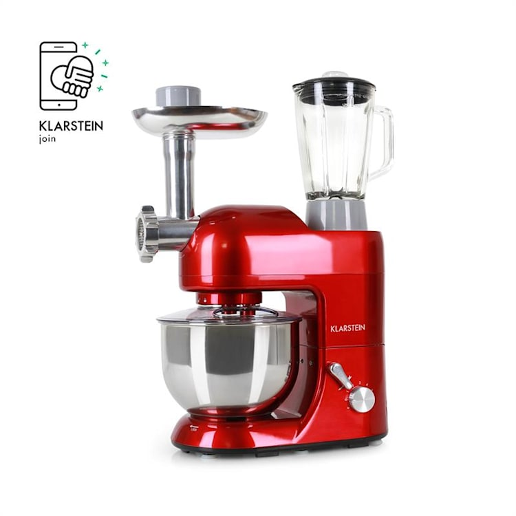 Lucia Rossa Stand Mixer Meat Mincer Mixer 1300 W - Red Red