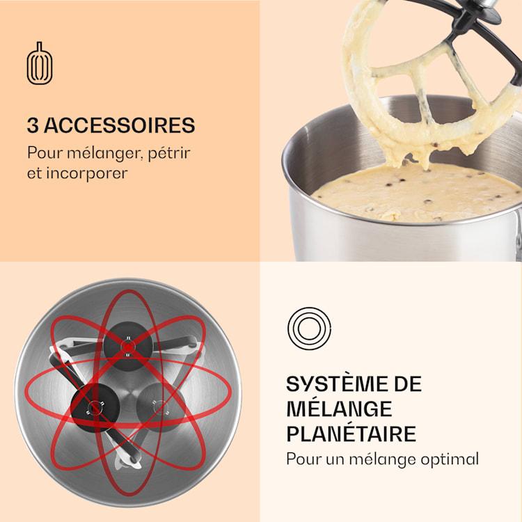 Robot ménager Bella 2000 W / 2,7 ch 5 l Acier inoxydable sans BPA Crème