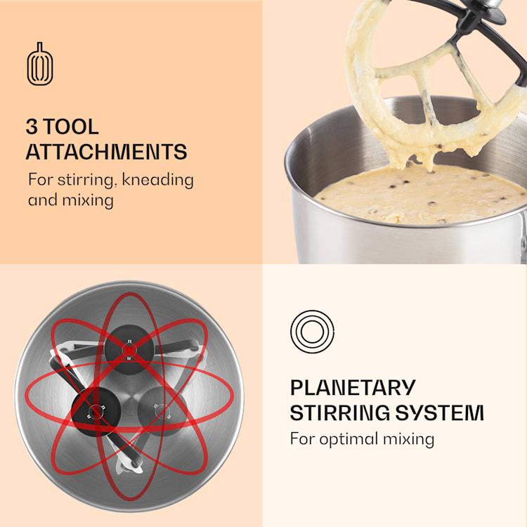 Bella, kuchynský robot, 1300 W, 2,7 PS, 5 litrov Krémová
