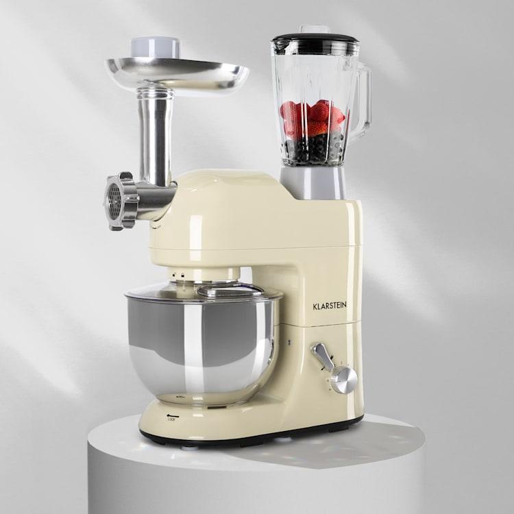 Lucia Robot ménager 3-en-1 2000 W / 2,7 ch 5 l Acier inoxydable sans BPA Crème