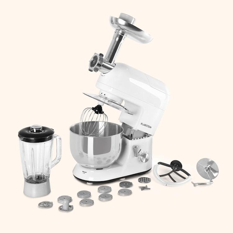 Lucia Robot ménager 3-en-1 2000 W / 2,7 ch 5 l Acier inoxydable sans BPA Blanc