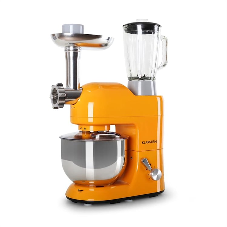 Lucia Orangina Stand Mixer Meat Mincer 1300W 5L Orange