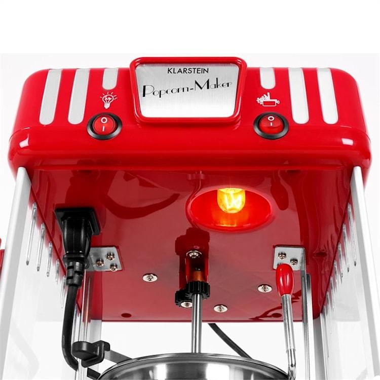 Klarstein Volcano stroj na popcorn, nádoba z nerezovej ocele Červená