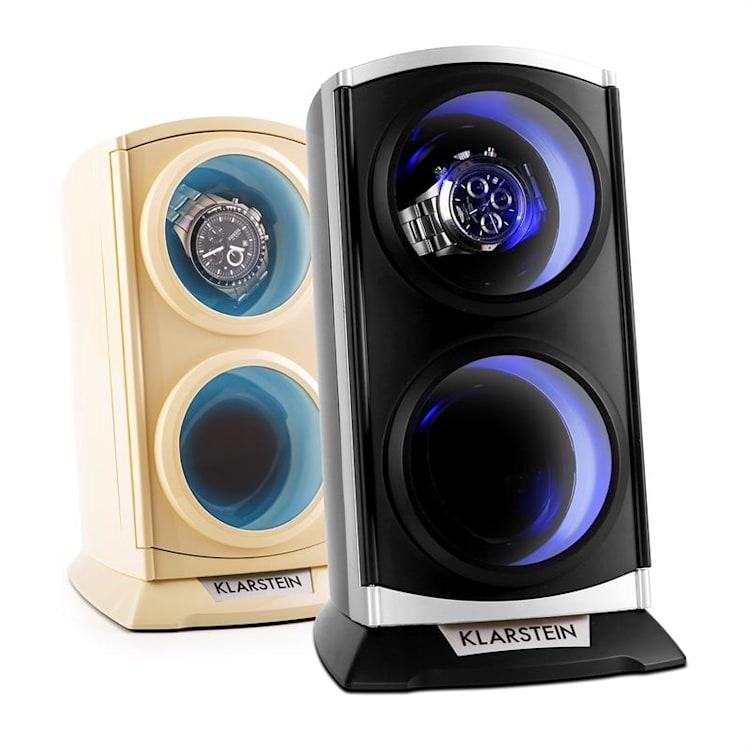 St.Gallen Premium porta orologi automatici rotore per 2 orologi Nero